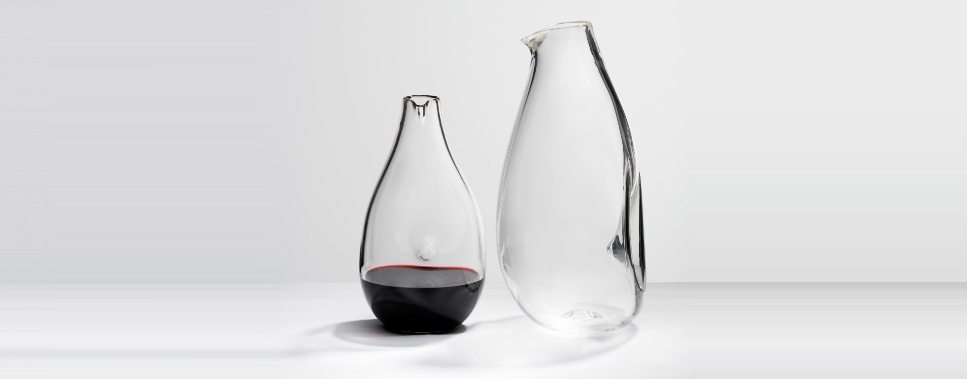 two Penguin decanters